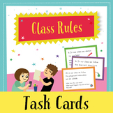 Back to School Task Cards - Class Rules (English)