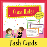 Back to School Task Cards: Class Rules (Spanish)