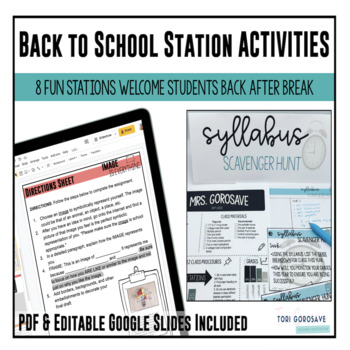 Back to School Task Cards {First Day of School Fun}