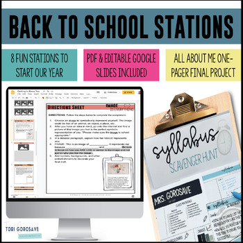 Task Cards - Back to School {First Day of School Fun}