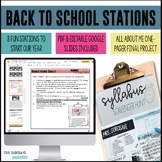 Back to School Stations & One-Pager   DISTANCE LEARNING