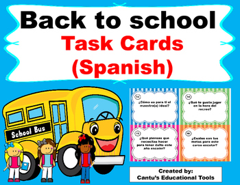 Back to School - Spanish - Get to know your classmates - Task Cards