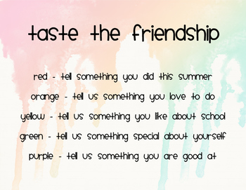 Back to School Taste the Friendship