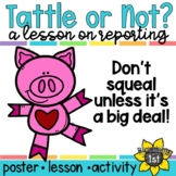 Back to School Tattling Sort and Activity