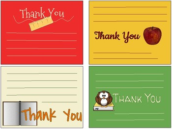 Back To Schoolteacher Appreciation Thank You Notes By Ebgtech Tpt