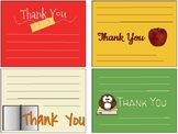 Back to School/Teacher Appreciation Thank You Notes