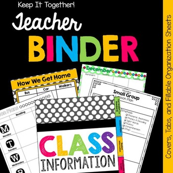 Back to School Teacher Binder