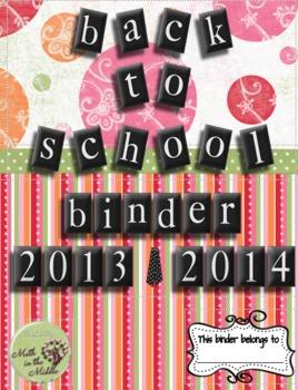 7th Grade Back to School Teacher Binder 2013-2014
