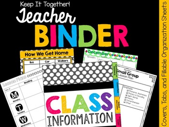 Back to School Teacher Binder & Classroom Organization Bundle