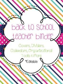 Back to School Teacher Binder Resource