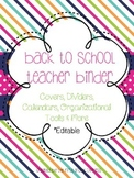 Back to School Teacher Binder Resource