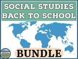 Back to School Social Studies Teacher Bundle