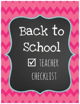 Back to School Teacher Checklist