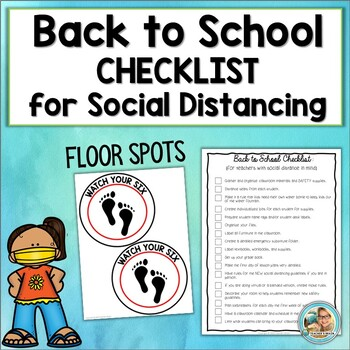 Back to School Teacher Checklist | Social Distancing Floor Markers | FREE