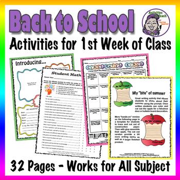 Back to School - Teacher First Week Start Packet