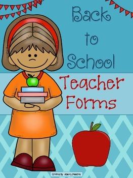 Back to School Teacher Forms