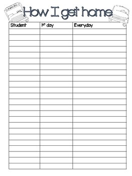 Back to School Teacher Forms