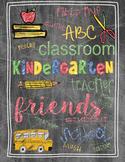 Back to School Teacher Gift Kindergarten