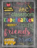 Back to School Teacher Gift Kindergarten