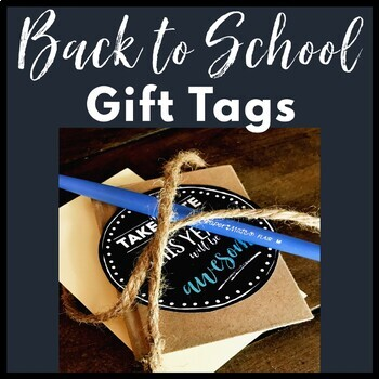 Back to School Gift Tags, Teacher Note Gift Tag Stickers