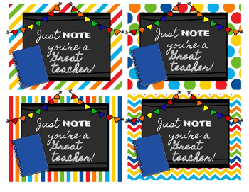 Back to School Teacher Gift Tags