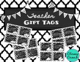 Back to School Teacher Gift Tags {Black & White}