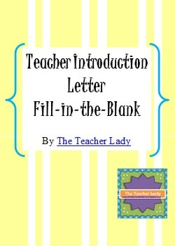 Back to school teacher introduction letter by the teacher lady tpt back to school teacher introduction letter altavistaventures Gallery