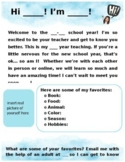 Back to School Teacher Introduction Letter and Parent Goog