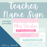 Back to School Teacher Name Sign {editable}