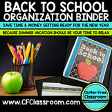 Back to School Teacher Organization Binder {Plan for the New Year}