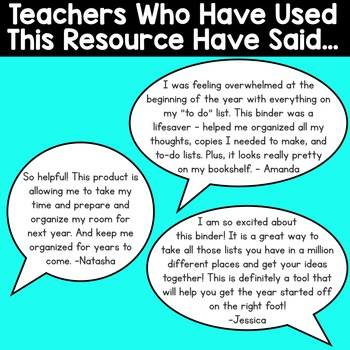 Back to School Teacher Organization Binder {Plan for the New Year}
