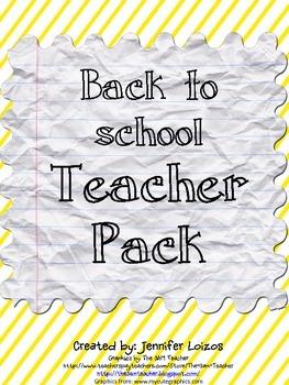Back to School Teacher Pack
