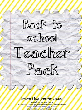 Back to School Teacher Pack
