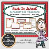 Back to School Teacher Packet by Nita Marie