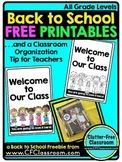 Back to School Teacher Tip and FREE Printable {Welcome Card}