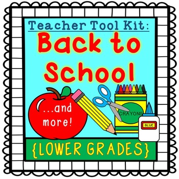 Back to School activities {lower grades}