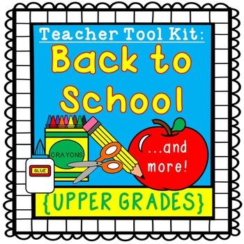 Back to School activities {upper grades}