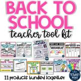 Back to School Teacher Tool Kit BUNDLE