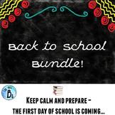Back to School Teacher Toolkit & Student Activities