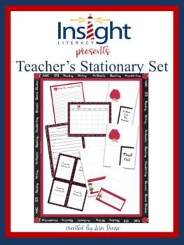 Back to School Teacher's Stationary Set