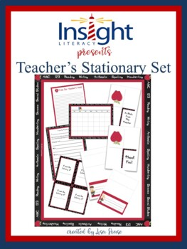 Back to School Teacher's Stationary Set