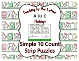 Back to School ~ Teaching by the Letter Holiday Strip Numb