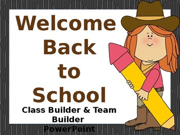 Back to School Team Builder PowerPoint (Western Theme)