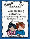 Back to School Team Building Activities