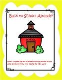 Back to School - Team Building Activities