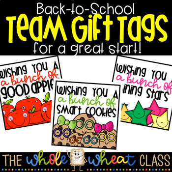 Back to School Team Gift Tags