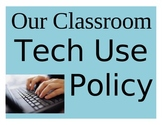Back-to-School Tech Device Policy Posters