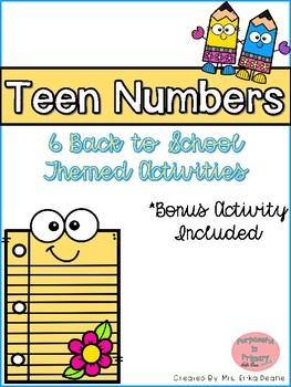 Back to School Teen Number Activities