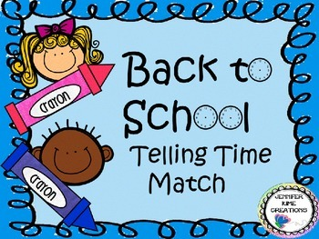 Back to School Telling Time Match