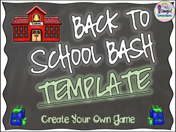 Back to School Template - Create Your Own Game